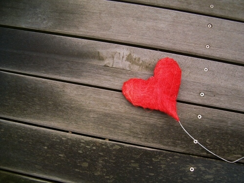felt love heart