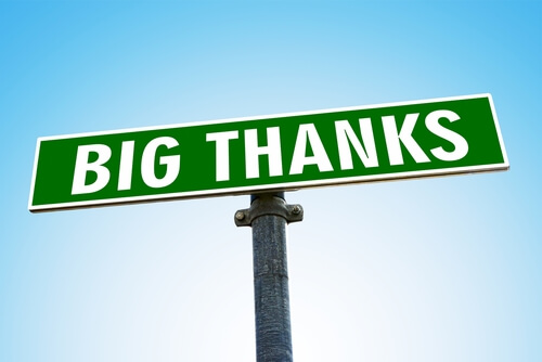 Sign big thanks green_Image used under licence from Shutterstock